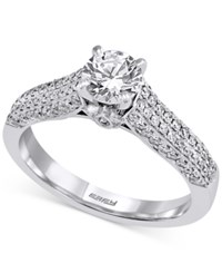 Effy Diamond Pave Engagement Ring 1 Ct. T.W. In 14K White Gold