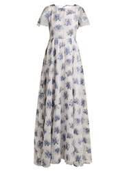 Athena Procopiou In The Hills Floral Jacquard Dress White Multi