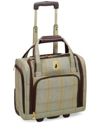London Fog Knightsbridge 15 Under Seat Tote Available In Brown And Navy Glen Plaid Macy's Exclusive Colors Brown Glen Plaid