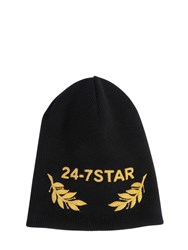 Dsquared Wool Beanie Hat W Embroidery
