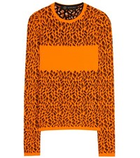Versace Knitted Sweater Orange