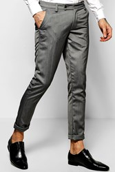 Boohoo Fit Suit Trousers Grey