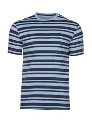 Raging Bull Men's Marl Stripe Tee Sky Blue