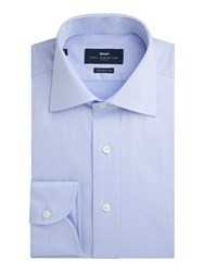 Paul Costelloe Men's Blue Non Iron Single Cuff Shirt Blue