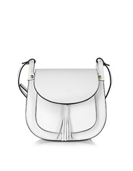 Le Parmentier Buttercup White Leather Crossbody Bag