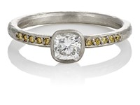 Malcolm Betts Mixed Diamond Ring No Color