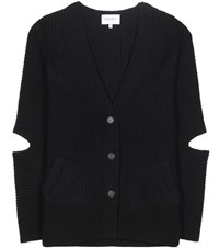 Public School Toni Merino Wool Blend Cardigan Black