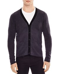 Sandro Merino Wool Cardigan Charcoal Gray