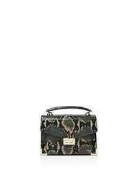 The Kooples Emily Snake Embossed Leather Mini Crossbody Green