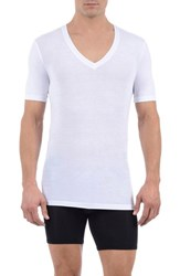 Men's Tommy John 'Cool Cotton' Deep V Neck Undershirt