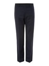 Howick Crawford Birdseye Suit Trousers Navy