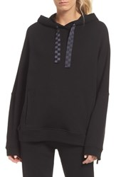 Alala Shift Hoodie Sweatshirt Black Checker