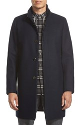 Men's Theory 'Belvin' Wool Blend Car Coat Eclipse