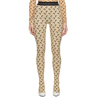 Marine Serre Tan All Over Moon Leggings