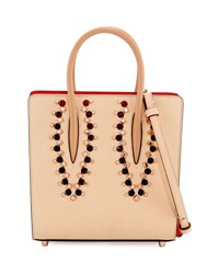 Christian Louboutin Paloma Small Studded Leather Tote Bag Neutral Multi Neutral Pattern
