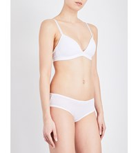 Bodas Basics Stretch Cotton Padded Bra White