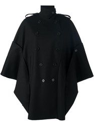 Valentino Double Breasted Cape Black