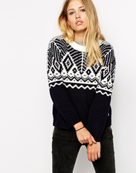 Pepe Jeans Patterned Jumper Navy