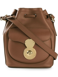 Ralph Lauren 'Ricky' Bucket Bag Brown