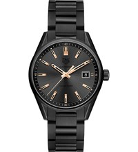 Tag Heuer War1113.Ba0602 Carrera Rose Gold Plated And Titanium Watch