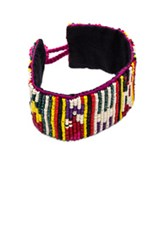 Etro Beaded Bracelet In Red Yellow Stripes Red Yellow Stripes