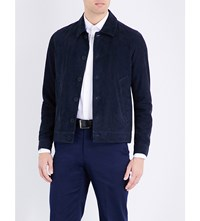Richard James Tailored Suede Jacket Navy
