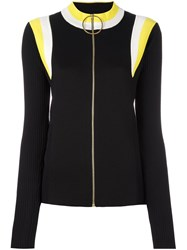 Marni Zip Front Ski Sweater Black