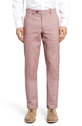 Ted Baker Men's London Volvek Classic Fit Trousers Red