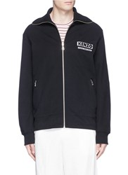 Kenzo 'Come Out' Slogan Embroidered Track Jacket Black