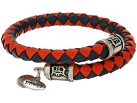 Alex And Ani Mlb Detroit Tigers Braided Leather Wrap Bracelet Rafaelian Silver Bracelet