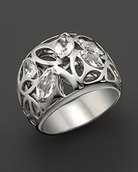 Di Modolo Sterling Silver And Rock Crystal Medallion Ring No Color