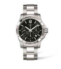 Longines Conquest Watch Unisex Black