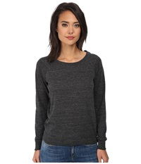 Alternative Apparel Eco Jersey Slouchy Pullover Eco Black Women's Clothing