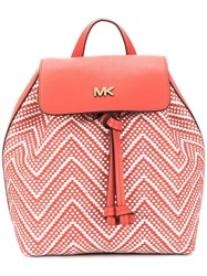 Michael Michael Kors Woven Effect Backpack Red