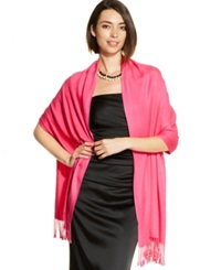 Inc International Concepts Satin Pashmina Wrap Deep Pink