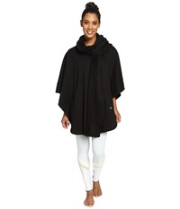 Alo Yoga Wrap Poncho Black Women's Coat