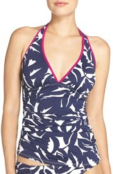 Tommy Bahama Women's Leaf Print Halter Tankini Top