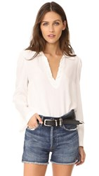 Frame Whip Stitch Blouse Off White