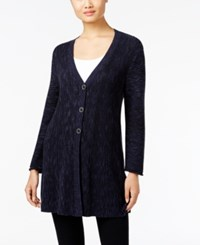 Styleandco. Style Co. Ribbed V Neck Cardigan Only At Macy's Industrial Blue Combo