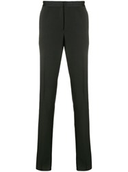 Versace Slightly Cropped Tailored Trousers Black