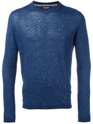 Woolrich Plain Sweater Blue