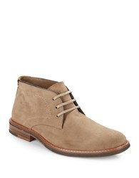 G.H. Bass Hurley Lace Up Suede Chukka Boots Taupe