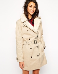 Pull And Bear Pullandbear Trench Coat Beige