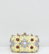 True Decadence Embellished Gem Box Clutch Bag Mint Green Multi