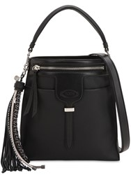 Tod's Small Thea Leather Shoulder Bag Black