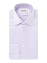 T.M.Lewin Plain Slim Fit Classic Collar Formal Shirt Lilac