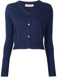 Organic By John Patrick V Neck Cardigan Blue