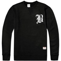 Bedwin And The Heartbreakers Lou Emblem Crew Sweat Black