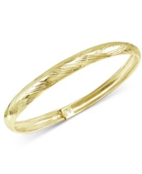 Giani Bernini Patterned Flex Bangle Bracelet In 24K Gold Plated Sterling Silver Only At Macy's Yellow Gold