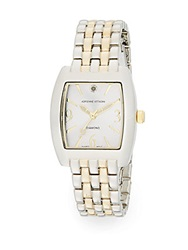Adrienne Vittadini Diamond Two Tone Bracelet Watch
